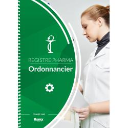 Ordonnancier de pharmacie. 200 pages foliotées - Reliure à spirales