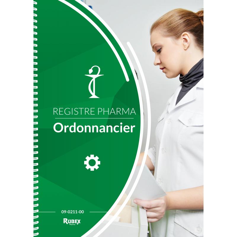 Ordonnancier de pharmacie 200 pages à spirales