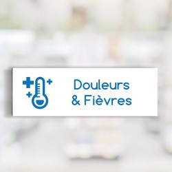 """Bandeau d'ambiance Douleurs & Fièvres - Illustration """"température"""""""