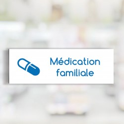 "Bandeau d'ambiance Médication familiale - Illustration ""gélule"""
