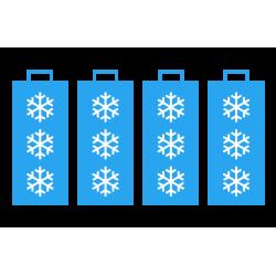 Piles grand froid pour Saveris 2-T1 - Enregistreur de température Testo