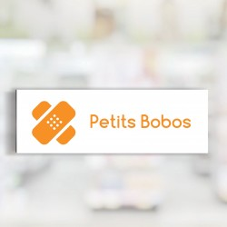 "Bandeau d'ambiance Petits Bobos - Illustration ""pansements"""