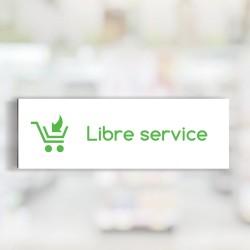 "Bandeau d'ambiance Libre service - Illustration ""chariot"""
