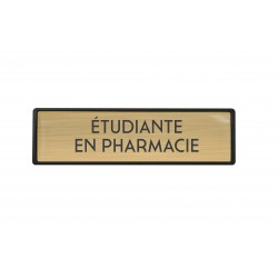 Badge luxe Etudiante en pharmacie