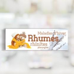 Bandeau d'ambiance Rhumes - Illustration standard par Photomatix