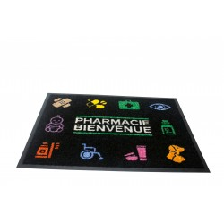 Tapis d'accueil Pharmacie picto 120 cm x 85 cm