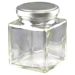Petits pots en verre carré - Lot de 24