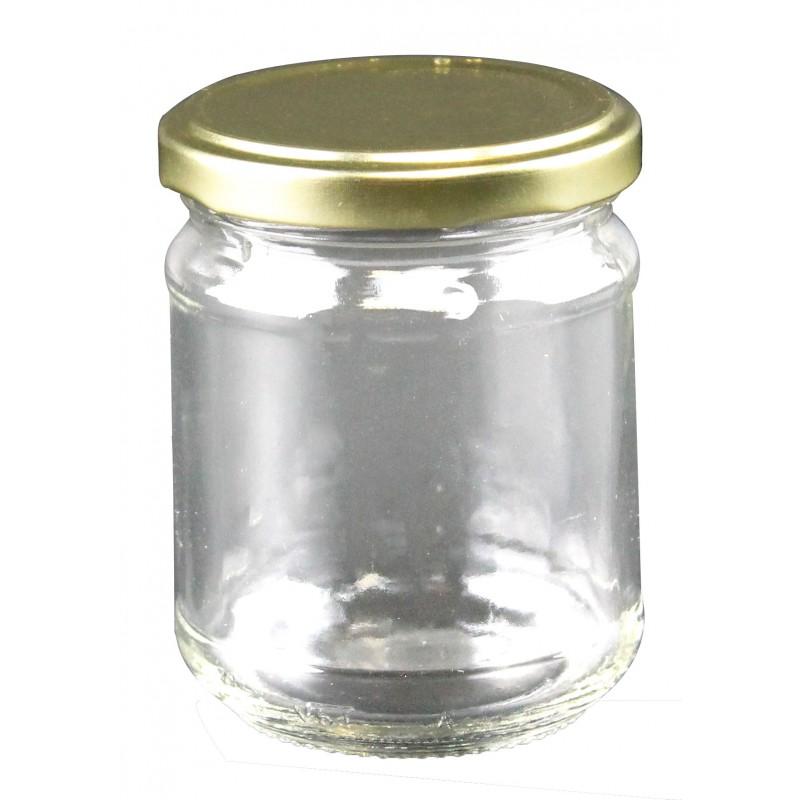 Grands pots en verre rond - Lot de 24