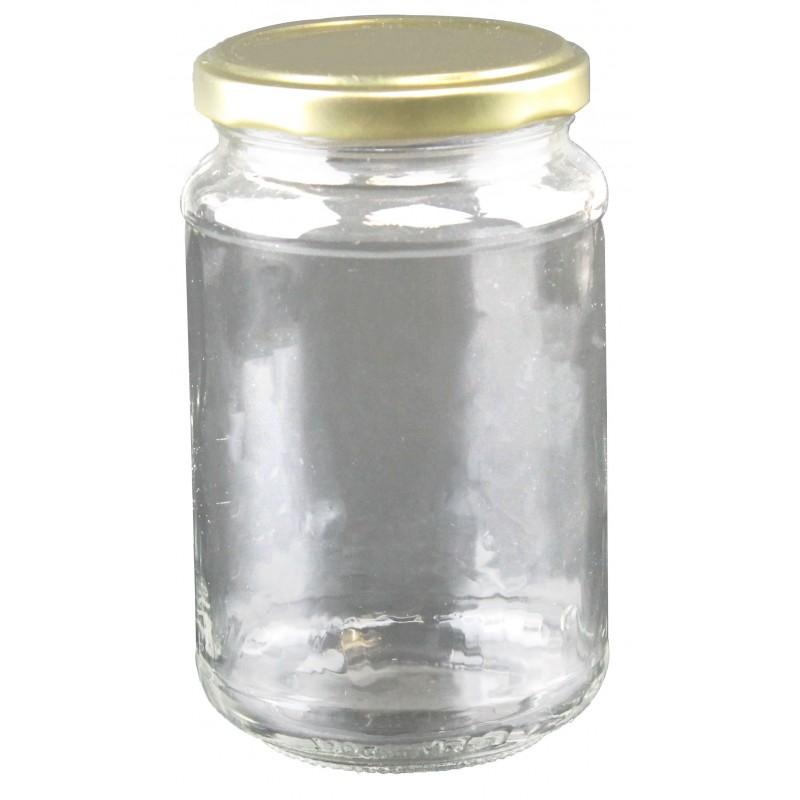 Petits pots en verre rond - Lot de 24