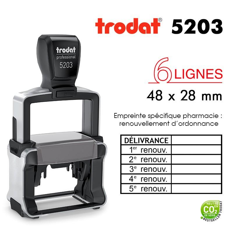 Tampon Trodat Métal Line 5203 - Renouvellement d'ordonnances