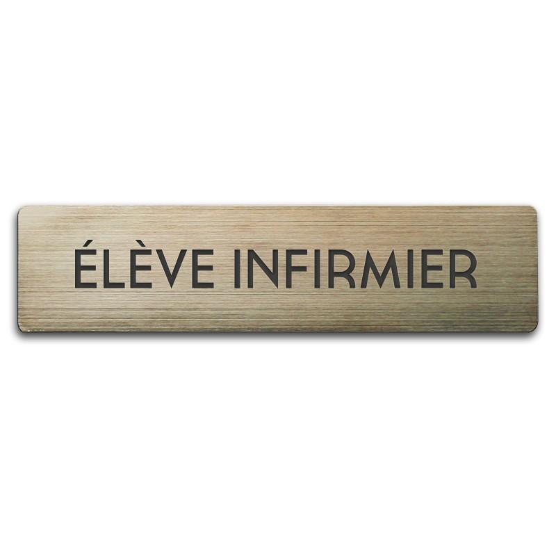 Badge Elève Infirmier rectangulaire