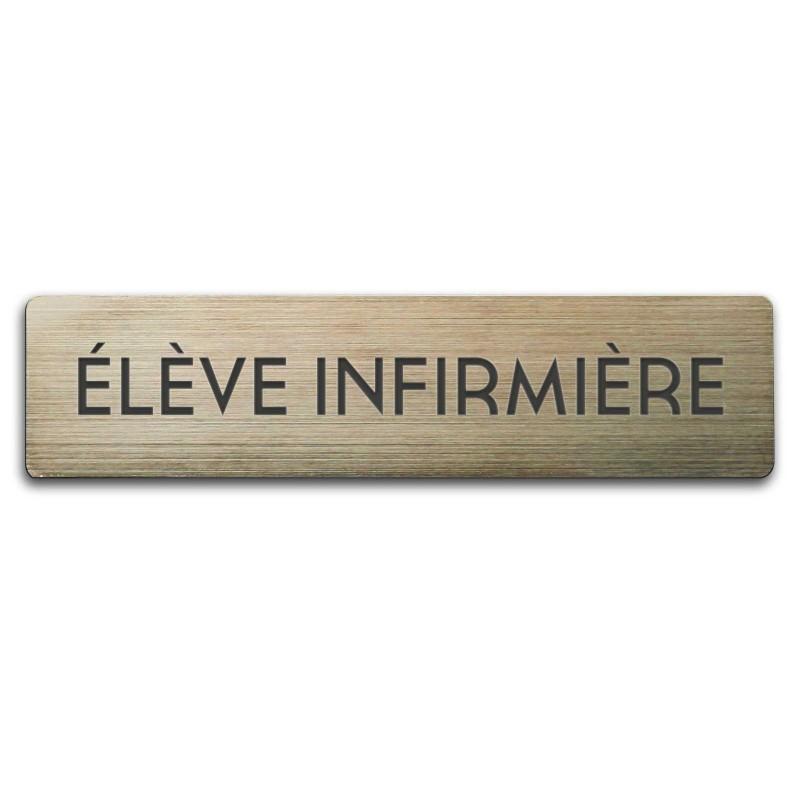 Badge Elève Infirmière rectangulaire