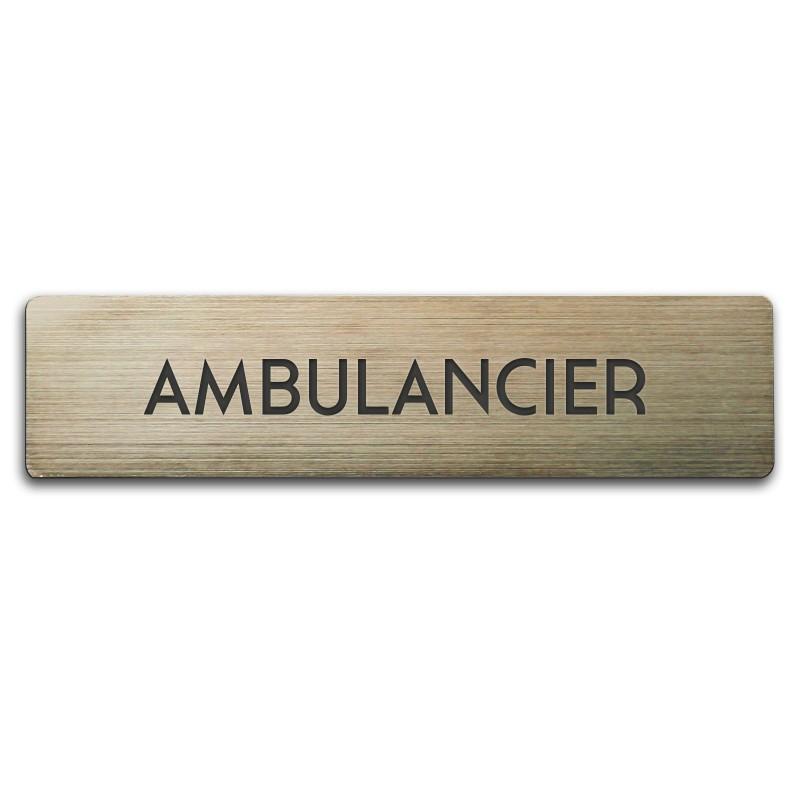 Badge Ambulancier rectangulaire
