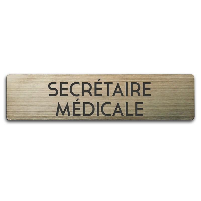 Badge Secrétaire Médicale rectangulaire