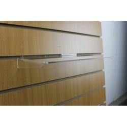 Etagères droites transparente pour panneau rainuré 30x20 cm