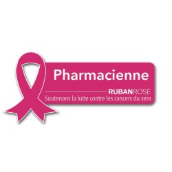 Badge Pharmacienne spécial Octobre Rose