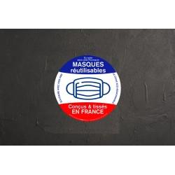 Sticker Masque conçu et tissé en France - 20cm
