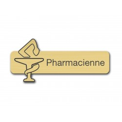 Badge Pharmacienne avec caducée