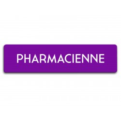 Badge Pharmacienne rectangulaire