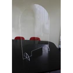 Hygiaphone de comptoir amovible 68x95 cm