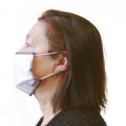 Masque barrière UNS1 adulte - attaches par oreilles - Lot de 5