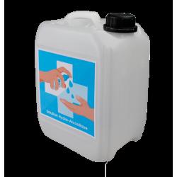 Bidon de 5 litres de solution hydro-alcoolique avec robinet