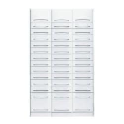 Pack de 3 colonnes à tiroirs équipées pour pharmacie