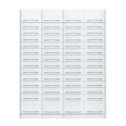 Pack de 4 colonnes à tiroirs équipées pour pharmacie