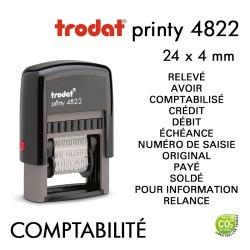 Tampon Trodat Printy 4822B, Comptabilité, 12 formules (35x4mm)