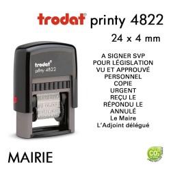 Tampon Trodat Printy 4822C, Mairie, 12 formules (35x4mm)
