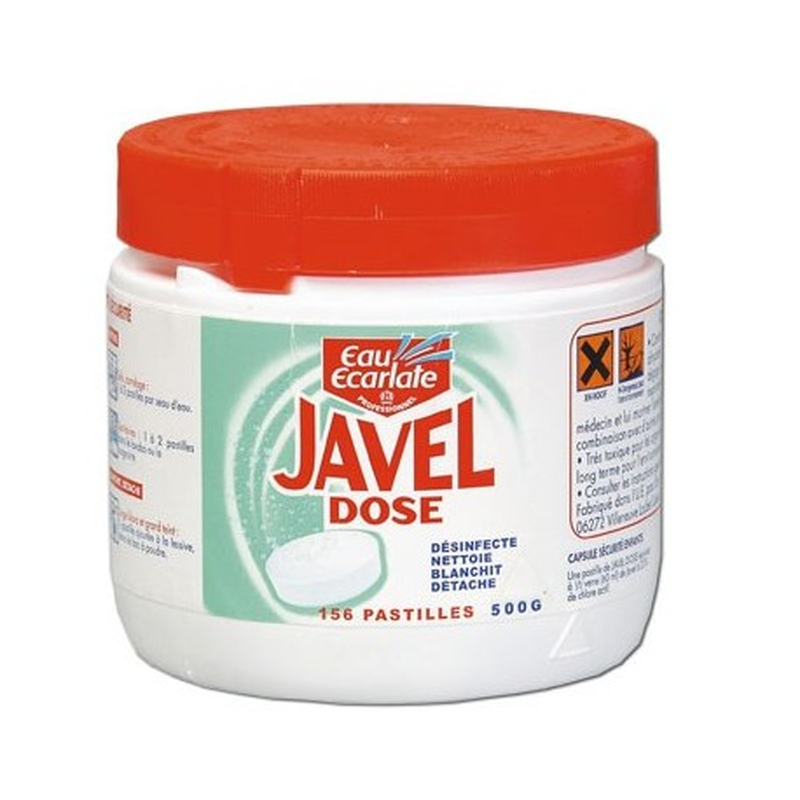 javel dose desinfectante 156 tablettes rubex pharma. Black Bedroom Furniture Sets. Home Design Ideas