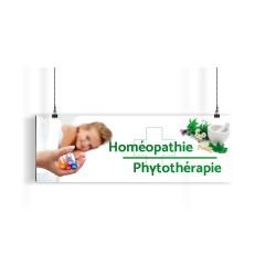 Bandeau d'ambiance gamme Pharmimage - Motif Homéopathie & Phytothérapie