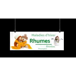 Bandeau d'ambiance gamme Pharmimage - Motif Rhumes
