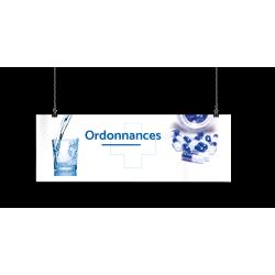 Bandeau d'ambiance gamme Pharmimage - Motif Ordonnances