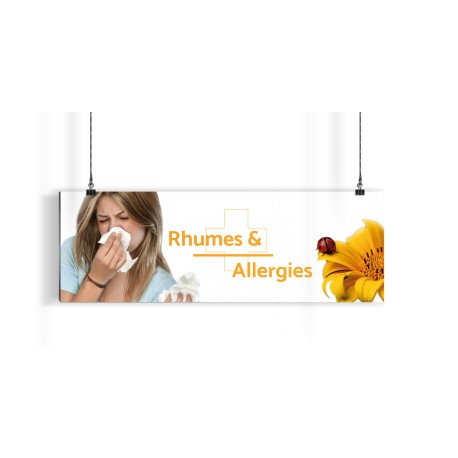 Bandeau d'ambiance gamme Pharmimage - Motif Rhumes & Allergies