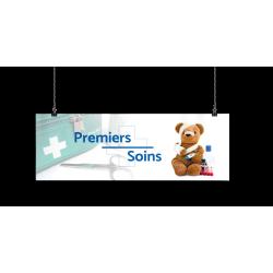 Bandeau d'ambiance gamme Pharmimage - Motif Premiers soins 1