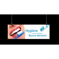 Bandeau d'ambiance gamme Pharmimage - Motif Hygiène Bucco-dentaire