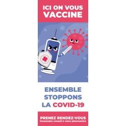 Kakémono de vitrine - Vaccination COVID-19 - 2