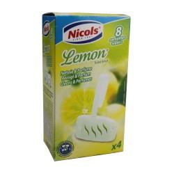 Bloc nettoyant cuvette WC senteur citron - lot de 4