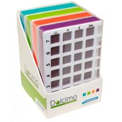 Présentoir avec 4 piluliers Dolcimo Classic