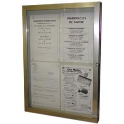 vitrine exterieure 3 feuilles 500x700mm sans eclairage