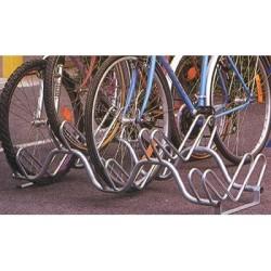 Râtelier range vélos 9 places sur 2 niveaux - longueur 190 cm
