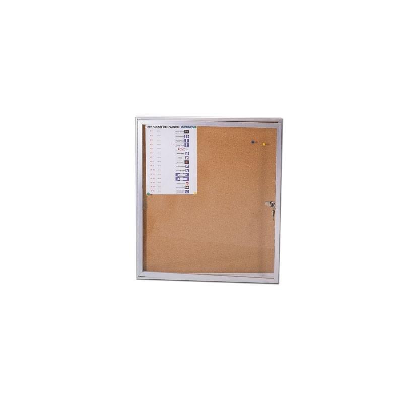 Vitrine d'affichage en aluminium - 97 x 70 cm