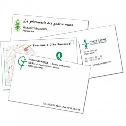 Cartes de Correspondances (126x80mm) sur Opale toilée 250g/m²