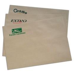 Pochettes imprimées C4 229x324mm avec fenetre 90g par 1000