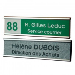 support de plaque simple + plaque acrylique 152x25mm