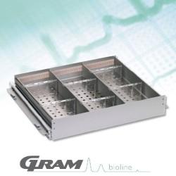 Tiroir Aluminium de 420mm pour BioCompact II de 125 à 346 litres