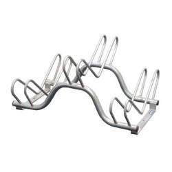 Râtelier range vélos 3 places sur 2 niveaux - longueur 70 cm