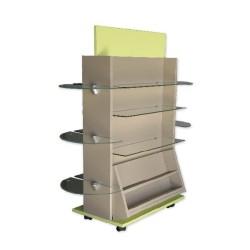 Gondole double face 1200 x 680 mm, 8 niveaux
