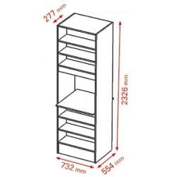 Meuble Administratif H233 L73 P55/70cm